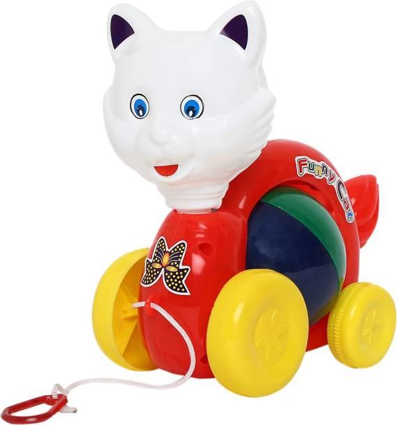 toymaxx PULLING FUNNY CAT