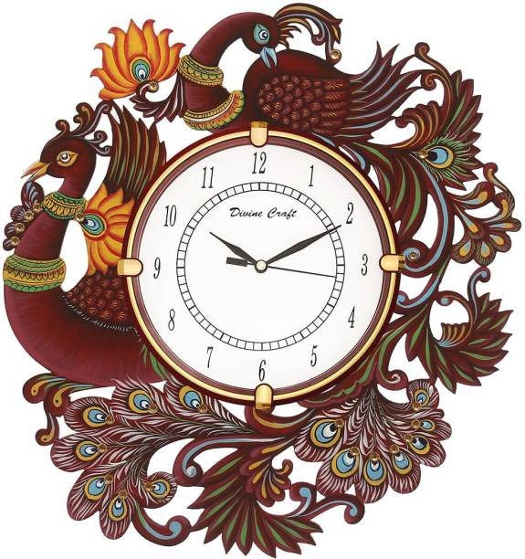 DivineCrafts Analog 33.2 cm X 33.2 cm Wall Clock