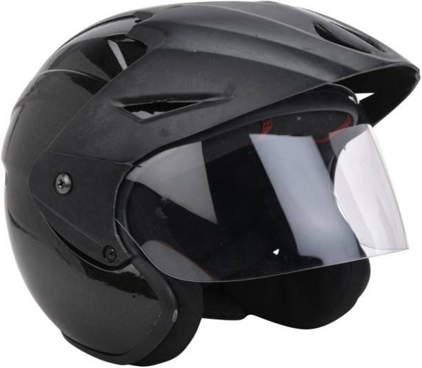 GTB NANO HELMET0OPEN FACE -BLACK Motorbike Helmet