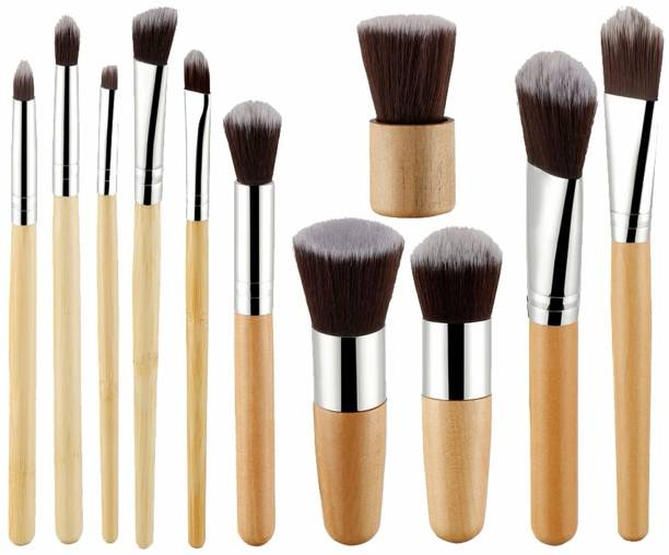FOOLZY Makeup Brush Set Professional Kabuki Foundation Blending Blush Concealer Eye Face Liquid Powder Cream Cosmetics Brushes Kit