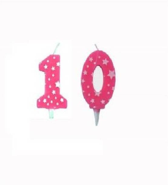 gorgeous moment 10 Happy Birthday Number Candle for Kids | Children | Boys & Girls | Happy Birthday Party | (10 digit Number Candle) Candle