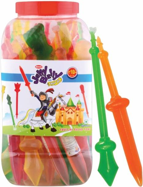 Mahak Toy Armoury Fruit Jelly | Filled with Vegetarian Fruit Jel Apple, Mango, Ornge Jelly Beans