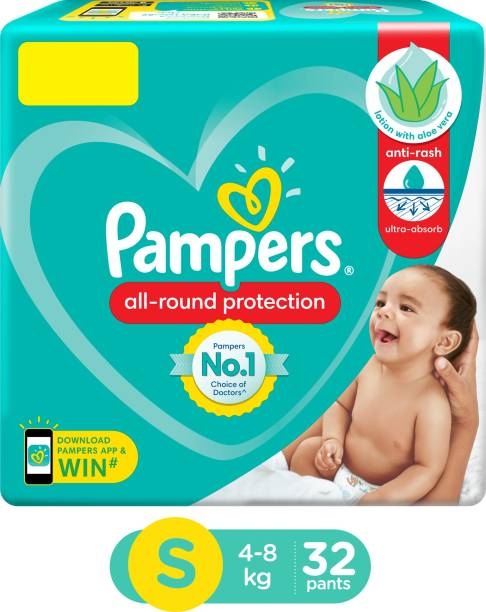 Pampers New Diapers Pants, Small, 32 Count - S