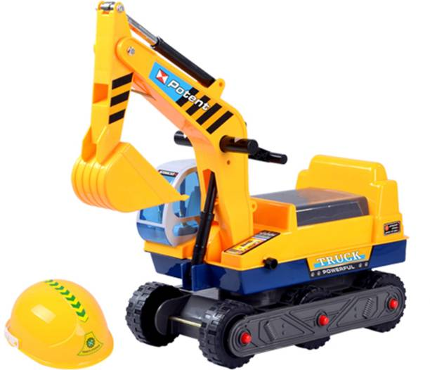 Miss & Chief Free Wheel Excavator Ride on Car Rideons & Wagons Non Battery Operated Ride On