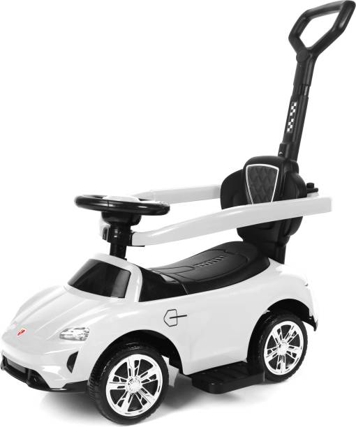 Miss & Chief 3 in 1 Deluxe Push Handle Sporty look & feel model Car Non Battery Operated Ride On
