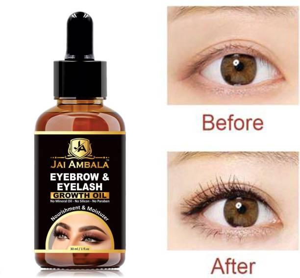 Jai Ambala Eyebrow & Eyelashes Growth Oil-Enriched with Natural 30 ml
