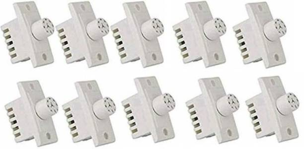 Tuffan Polycarbonate Switch 7 Step Type Fan Regulators (White) -10 Pieces Step-Type Button Regulator