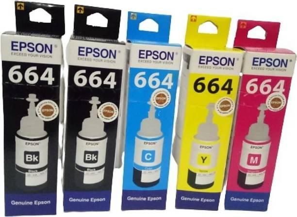Epson EP-664 Black + Tri Color Combo Pack Ink Bottle