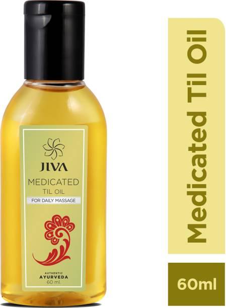 JIVA AYURVEDA Ayurveda Medicated Til Oil - 240 ml (Pack of 4) Liquid
