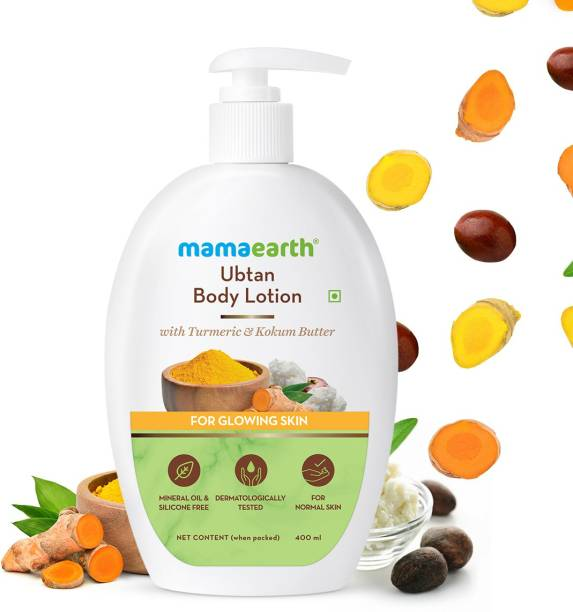 MamaEarth Body Lotion with Turmeric & Kokum Butter for Glowing Skin