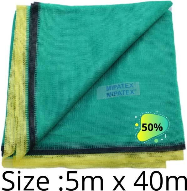 Mipatex 50% Green Shade Net 5m x 40m, Multi-Purpose Greenhouse Garden Nursery Shading Cloth - Blocks Sun Light Dust, Protect Flowers and Plants Portable Green House