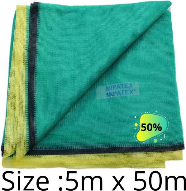 Mipatex 50% Green Shade Net 5m x 50m, Multi-Purpose Greenhouse Garden Nursery Shading Cloth - Blocks Sun Light Dust, Protect Flowers and Plants Portable Green House