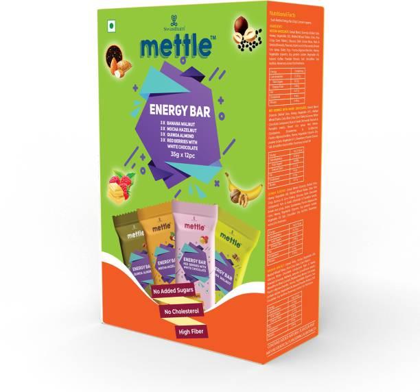 mettle Assorted Energy Bars 35 g. Pack of 12 Energy Bars