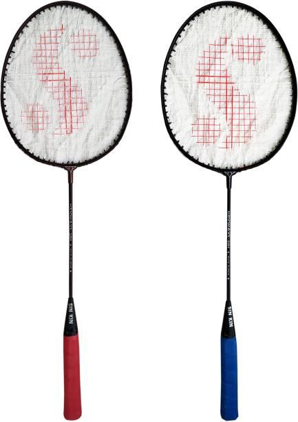 SINKIN Badminton Set of Two for all family men, Women, Boys & Girls Multicolor Strung Badminton Racquet