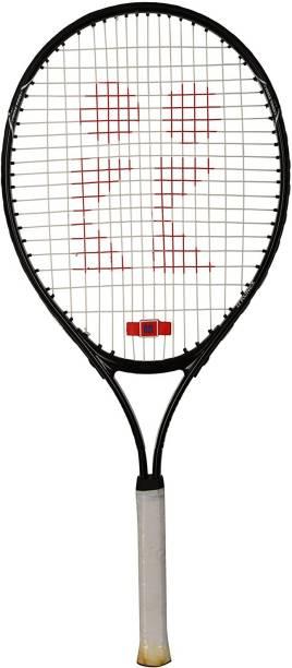 SGR Carbon-Steel Tennis Racquet (Size-25) Black Strung Tennis Racquet