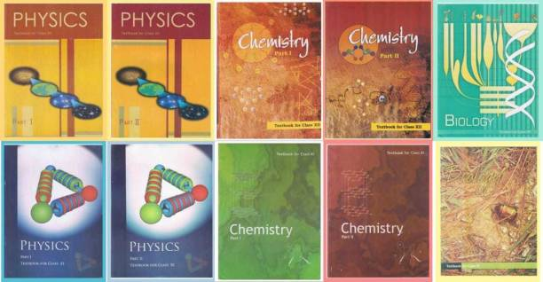 NCERT BOOKS NCERT Physics Textbook Part - 1 And 2 , Chemistry Textbook Part - 1 And 2 , Biology Textbook For Class - 11.12 ( Set Of 11 AND 12 Books Combo ) SPB PATNA