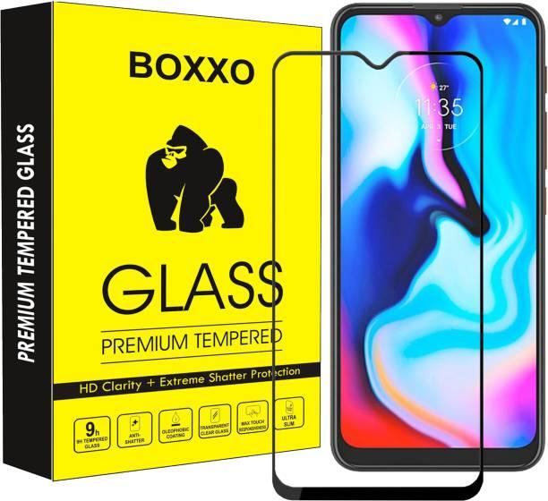 Boxxo Edge To Edge Tempered Glass for Motorola Moto E7 Plus