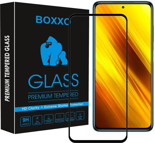 Boxxo Edge To Edge Tempered Glass for Poco X3, Infinix Hot 9, Infinix Hot 9 Pro