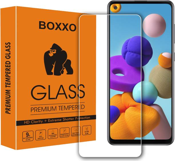 Boxxo Tempered Glass Guard for Samsung Galaxy A21s