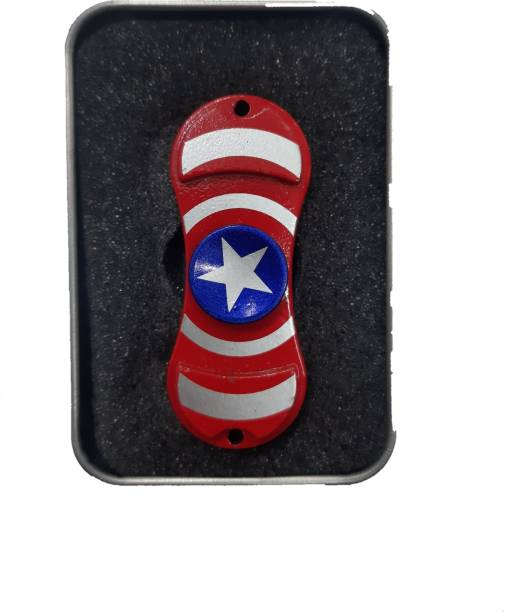 Shivsoft Captain america Flag 2 Sided Spinning Toy