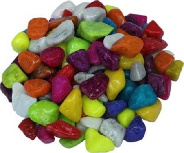 Strollin Multi-color Stone for Home, Garden and Aquarium Decor pebbles Regular Asymmetrical Marble Pebbles