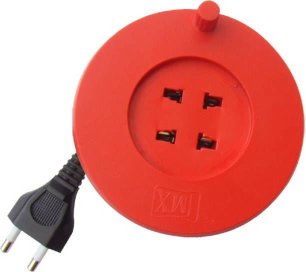 MX MX 2 Sockets 2 Pin extension box with 3 meters power cable Surge protector 2 Socket Extension Boards