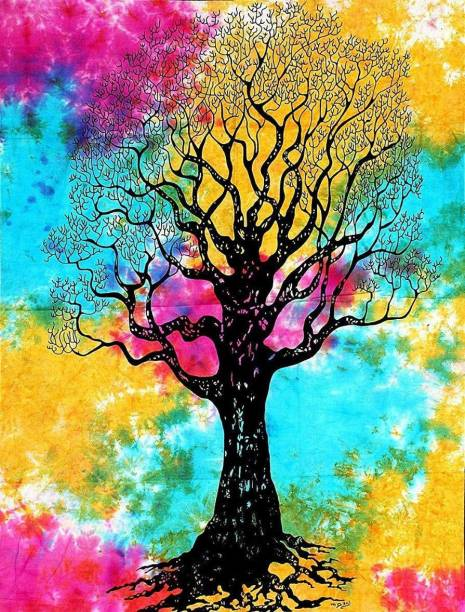 Art World Tapestry Dry Tree of Life Boho Tapestry