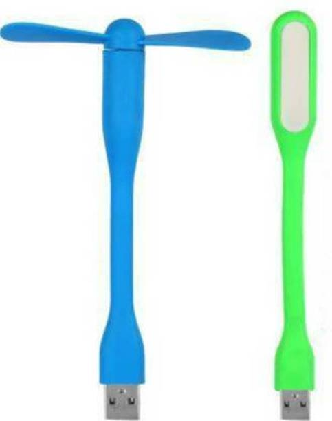 Gacher Flexible and Transportable Led Light, USB Fan
