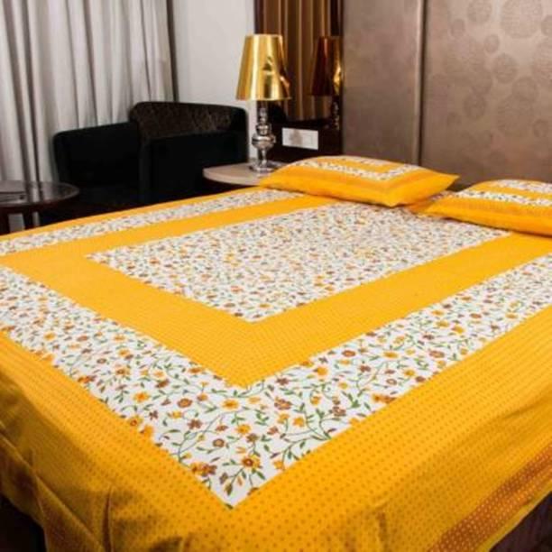 PRATAP CREATIONS 228 TC Cotton King Applique Bedsheet