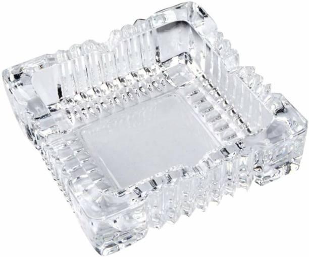T TOPLINE Clear Glass Ashtray