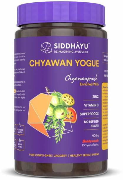 Siddhayu Chyawan Yogue | Ayurvedic Immunity booster for all Age groups | Sugar free | Jaggery Chyawanprash | Vitamin C Zinc Raisins and Superfoods