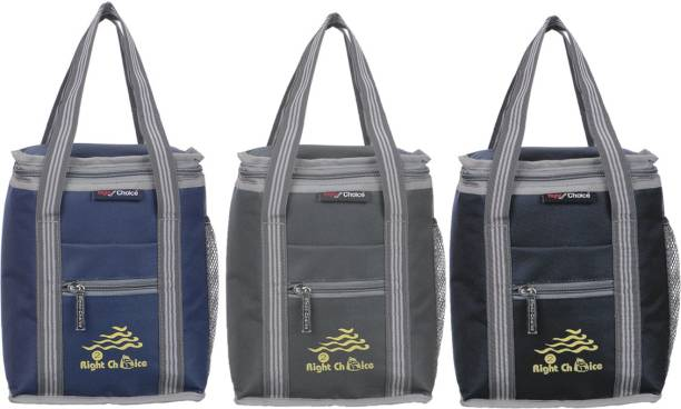 RIGHT CHOICE All Age Combo Lunch Bags Branded Trendy Premium Quality Carry on School Office & Picnic (Navy Blue+Grey+Black 3007+3009+3006) Lunch Bag