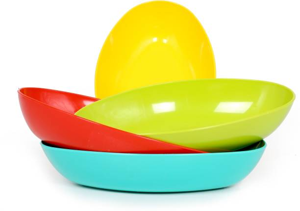 PERFECTBELL Plastic Microwave Safe Serving, Cooking and Mixing Bowl for Soup, Food, Snacks, Dry Fruits for Kids, Kitchen Plastic Serving Bowl