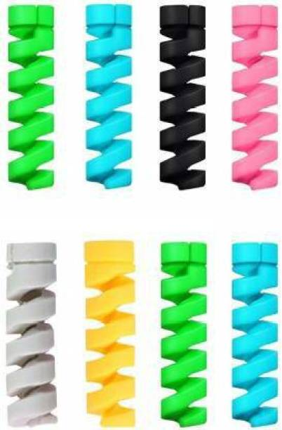 Raj 8 PC Cable Protectors | Wire Sleeves for Charger Cables/Headphone Wire/Mouse/Keybord cord | Cable Protector