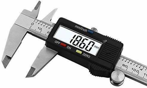 "ALPHABITA Vernier caliper 150 mm 6"" LCD Digital Electronic Carbon Fiber Vernier Calipers Gauge Micrometer With Large LCD Screen Display Inch/Metric 01 Digital Caliper"