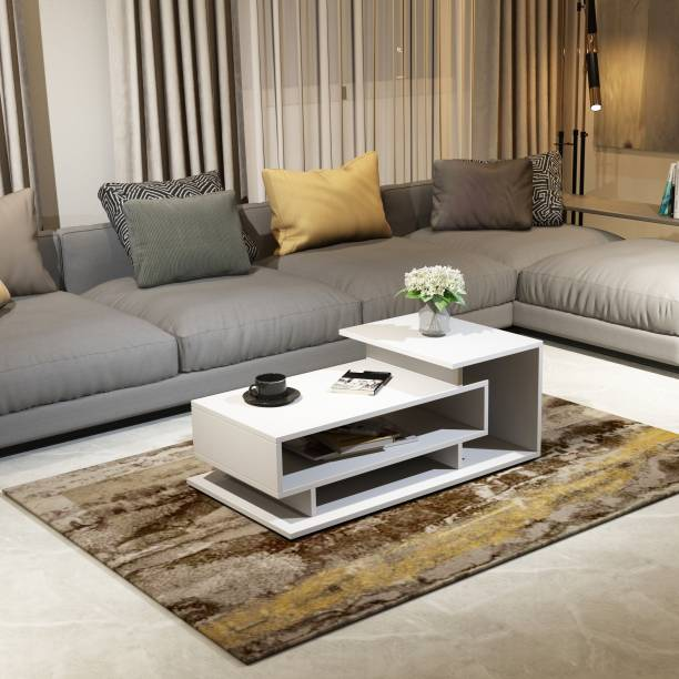 A GLOBIA CREATIONS Kiosk Center Table Engineered Wood Coffee Table
