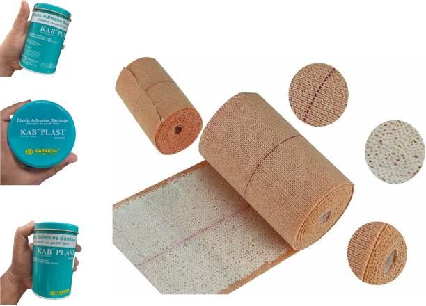 KABRION KAB PLAST Elastic Adhesive Bandage B.P. 10 cm X Stretched Length 4/6 m (Pack of 1) Crepe Bandage