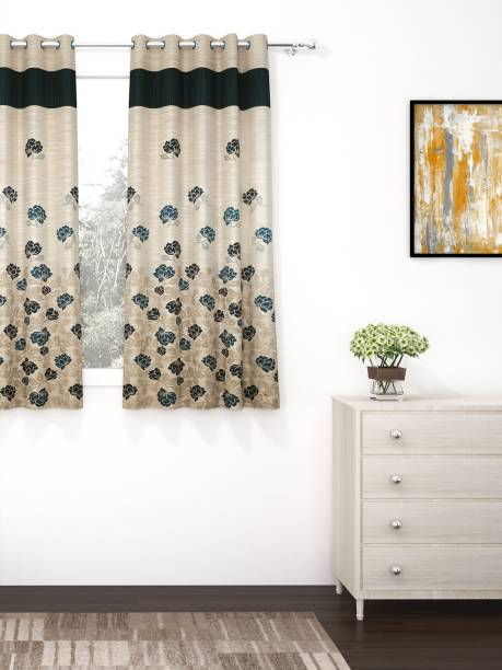 Story@home 152 cm (5 ft) Jacquard Window Curtain Single Curtain