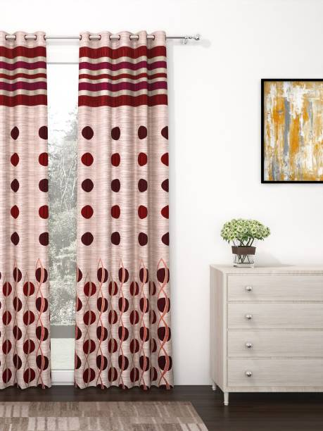 Story@home 275 cm (9 ft) Polyester Long Door Curtain Single Curtain