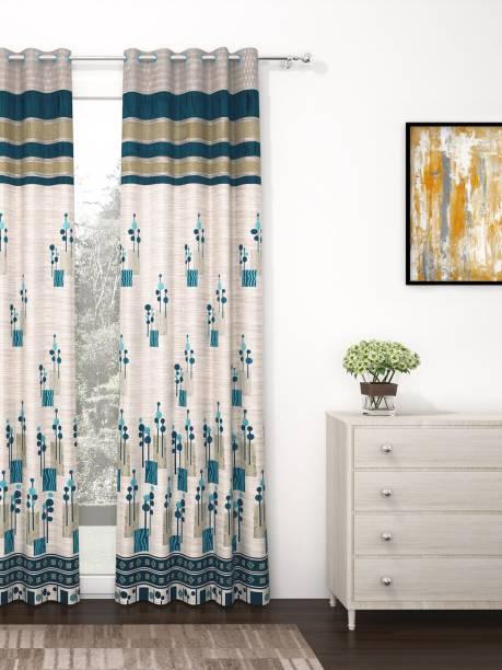 Story@home 275 cm (9 ft) Jacquard Long Door Curtain Single Curtain
