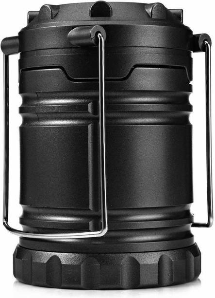 TrueFest Solar Lantern: Camping Rechargeable LED Outdoor Lamp Flashlight Brightest Hanging Camp Pop Up Powered Best Collapsible Emergency Light with Battery Built in Phone Charger Black Power Outage Lights-001 Torch Emergency Light