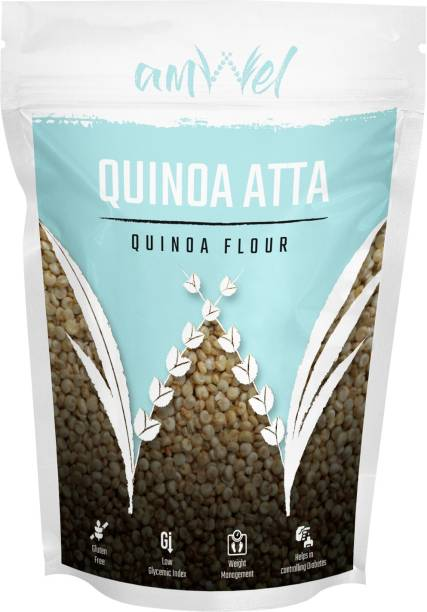 Amwel Quinoa Atta (Quinoa Flour) - Pack of Two [500g x 2 units = 1kg]