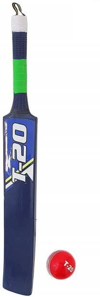 Jaspo T-20 Wooden Cricket Ball with Wooden Bat(Size-5)(Wooden Bat,1 T-20 Ball) Cricket Kit