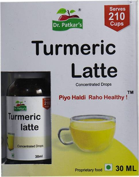Dr. Patkar's Turmeric Latte 30 ml | Traditional Immunity Booster with Natural Haldi, Tulsi, Cinnamon & Blends of More