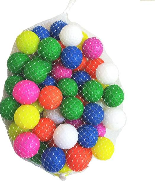 Balaji International Colorful Small Balls for Kids to Play,Bath Use,Pool Use (1.5 inch size) set of 60 Balls Multi colour light weight Bath Toy