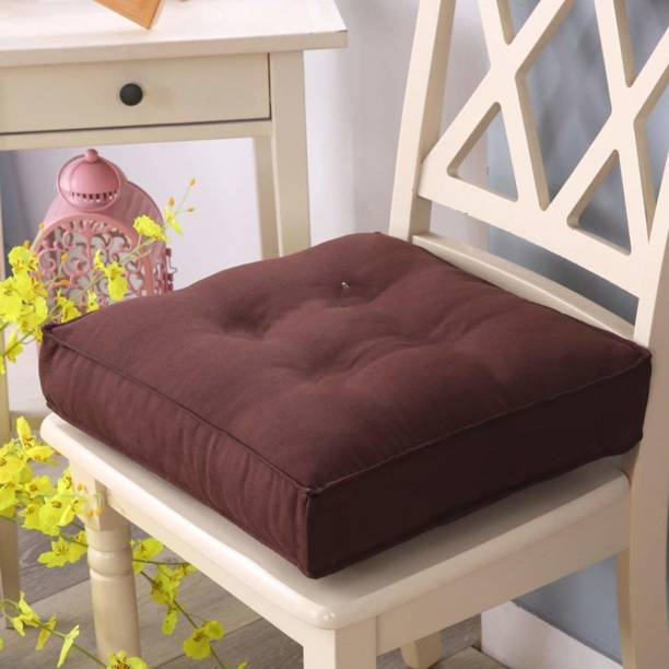 AP Linens Relaxing Chair Cushion Microfibre Solid Chair Pad Pack of 1