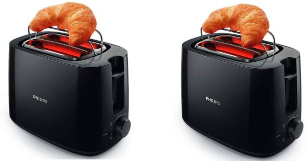PHILIPS HD2583/90 pack of 2 600 W Pop Up Toaster