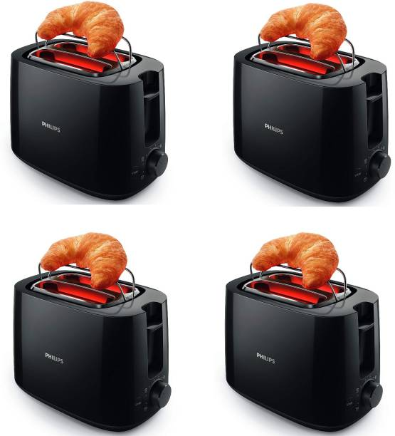 PHILIPS HD2583/90 pack of 4 600 W Pop Up Toaster