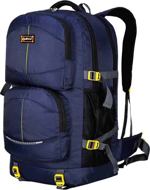 alfisha Travel Bag Hiking /Trekking /Campaign Bag /Backpack Rucksack Luggage-001 Navy Blue