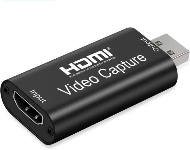 Smacc HD Audio Video Capture Card HDMI Female to USB Male for Screen Sharing | Broadcasting | Video Recording | Live Conference | Medical Imaging | DSLR Recording | Acquisition | Game Streaming Media Streaming Device